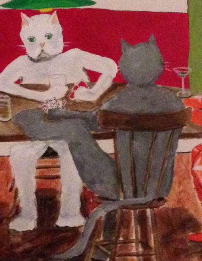4Cats playing Cards