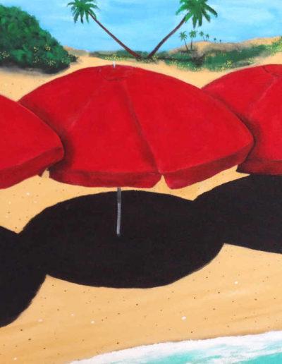 5Red Umbrellas