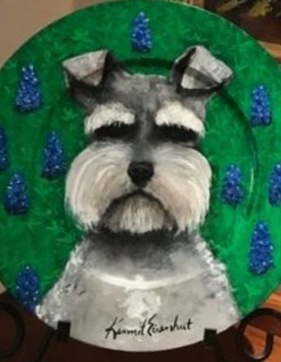 dog on plate