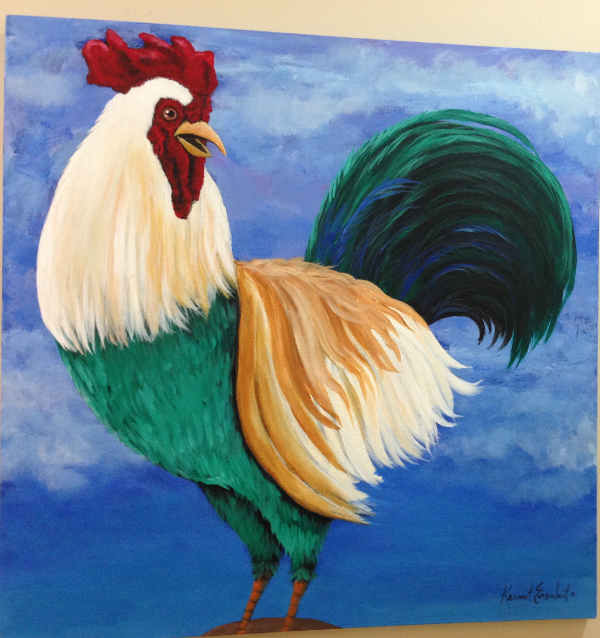 Rooster - pet portrait with a difference